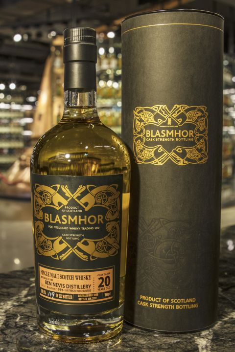 (現貨) Blasmhor – Ben Nevis 1996 20 Years Cask Strength 威仕摩 – 班尼富 1996 20年 單桶原酒 (700ml 50.5%)