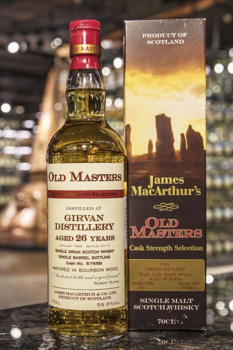 (現貨) Old Masters – Girvan 1988 26 years 麥大師 – 格文 1988 26年 單一穀物 原酒 (700ml 59.8%)