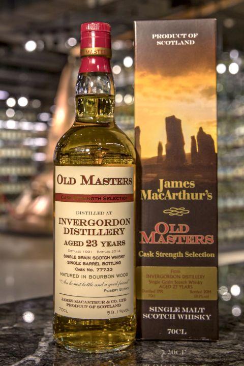 (現貨) Old Masters – Invergordon 1991 23 years 麥大師 – 因弗高登 1991 23年 單一穀物 原酒 (700ml 59.1%)
