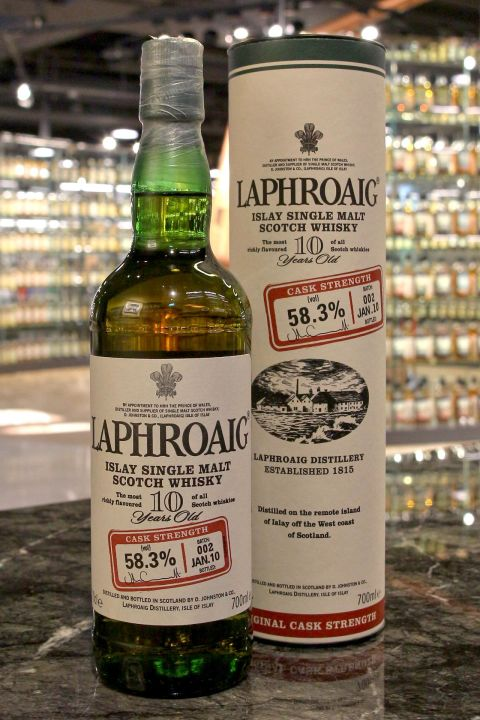 LAPHROAIG 10 years Cask Strength Batch 002 拉佛格 10年 原酒 第二版 (700ml 58.3%)