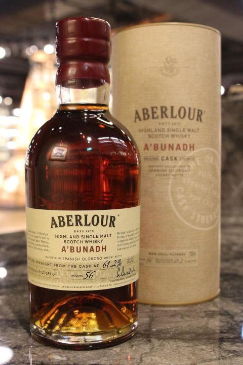Aberlour A'bunadh Batch 56 亞伯樂 雪莉桶原酒 第56批次 (700ml 61.2%)