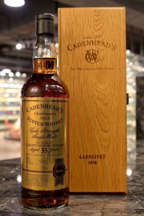 (現貨) CADENHEAD'S - Glenlivet 1976 35 years 凱德漢 格蘭利威 1976 35年 單桶原酒 (700ml 57.3%)