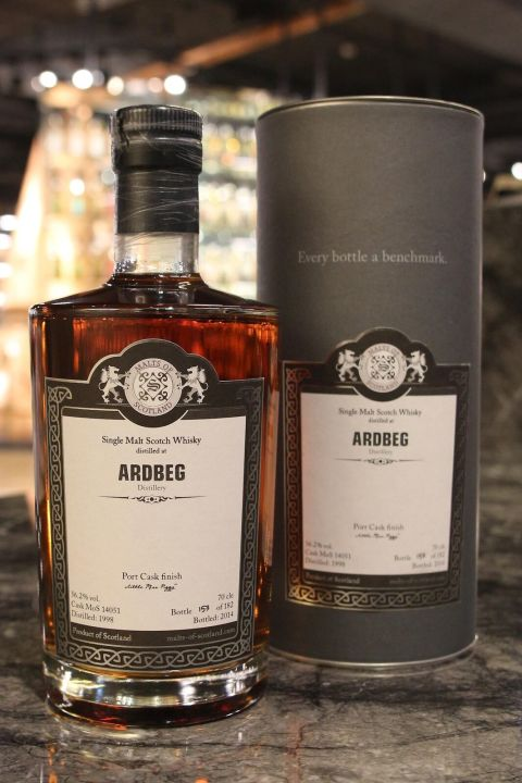 (現貨) Malts of Scotland - Ardbeg 1998  柏 1998 波特風味桶 單桶 (700ml 56.2%)