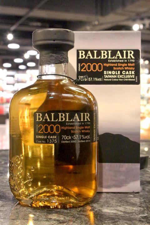 BALBLAIR 2000 Taiwan Exclusive Single Cask 巴布萊爾 2000 台灣限定 單桶 (700ml 57.1%)