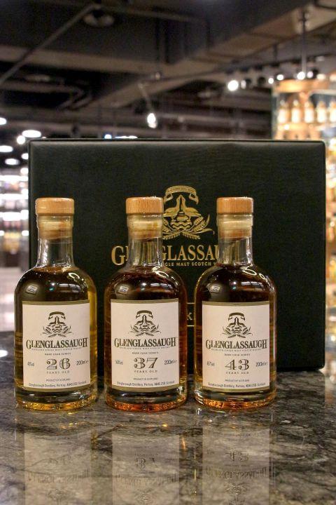 (現貨) Glenglassaugh Rare Cask Series 格蘭格拉索 珍稀桶系列 中樣酒組 (200ml*3 ,46%~54.8%)