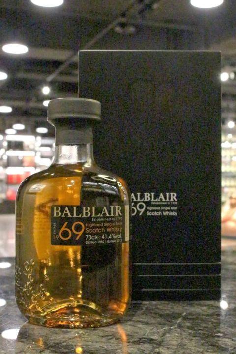 (現貨) Balblair 1969 1st released bottled 2012 巴布萊爾 1969 43年 波本桶原酒 (700ml 41.4%)