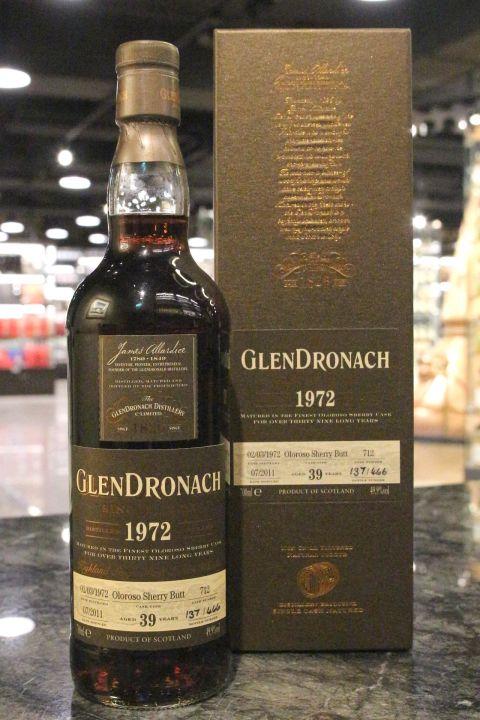 GLENDRONACH 1972 39 years Oloroso Butt 格蘭多納 1972 39年 MMA金牌 (700ml 49.9%)