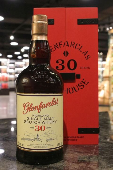(現貨) Glenfarclas 30 years Warehouse Edition 格蘭花格 30年 倉庫紅木盒版 (700ml 43%)