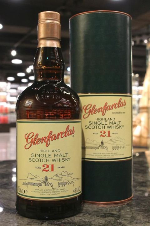 (現貨) Glenfarclas 21 Years Single Malt Whisky 格蘭花格 21年 單一純麥威士忌 (700ml 43%)