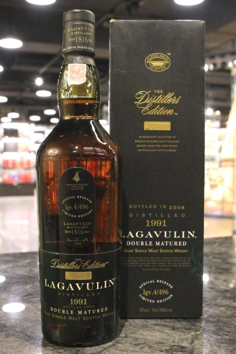 (現貨) LAGAVULIN 1991 Distillers Edition Bottled 2008 拉加維林 1991 酒廠限定版 2008裝瓶 (700ml 43%)
