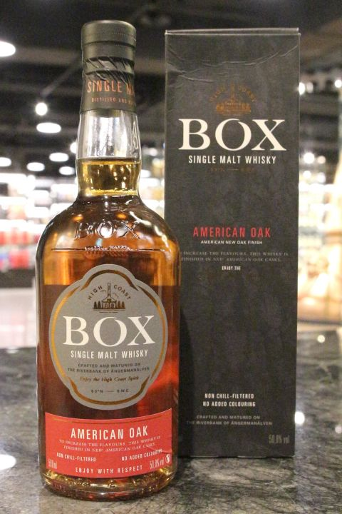 (現貨) BOX American Oak Swedish Single Malt 瑞典盒子 初次美國橡木桶 (500ml 50.8%)