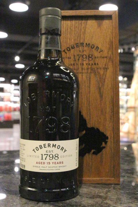 (現貨) Tobermory 15 Years 托本莫瑞 15年 單一純麥威士忌 (700ml 46.3%)