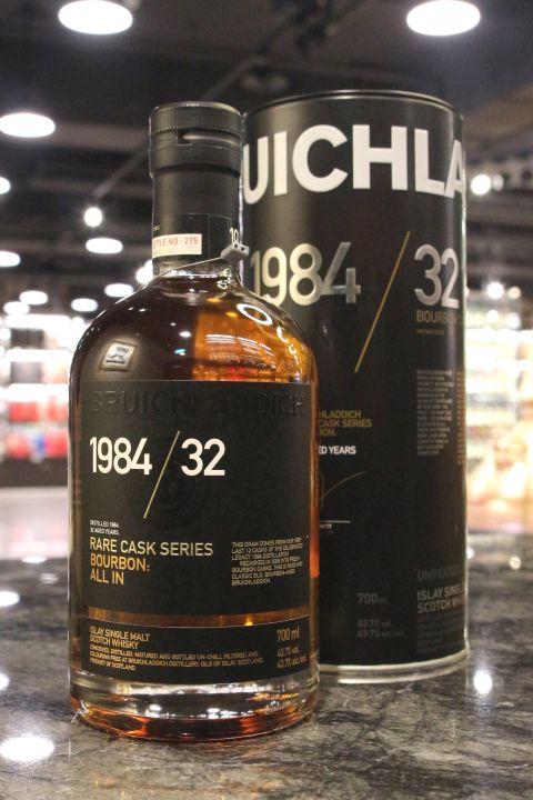 (現貨) BRUICHLADDICH Rare Cask Series 1984 32 years 布萊迪 1984 32年 波本桶 (700ml 43.7%)