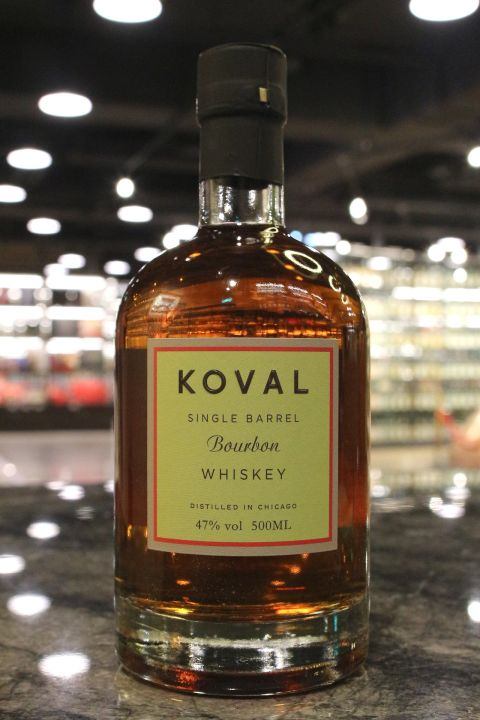 Koval Bourbon Single Barrel Whiskey 科沃 美國波本威士忌 (500ml 47%)