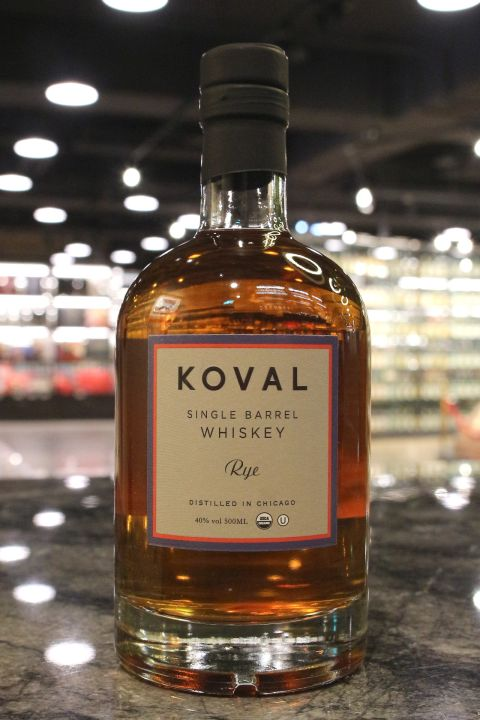 Koval Rye Single Barrel Whiskey 科沃 美國裸麥威士忌 (500ml 40%)