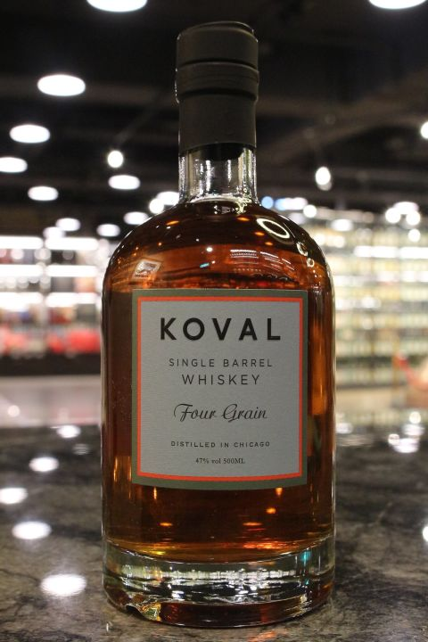 Koval Four Grain Single Barrel Whiskey 科沃 四重奏 美國威士忌 (500ml 47%)