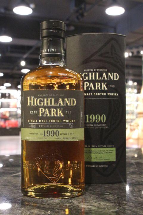 (現貨) Highland Park 1990 Bottled 2010 高原騎士 1990 - 2010裝瓶 (700ml 40%)