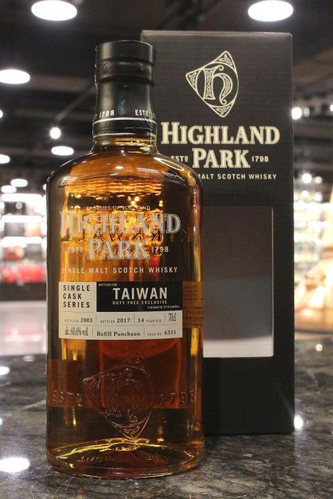 (現貨) Highland Park 2003 Single Cask 14 years Taiwan Exclusive 高原騎士 2003 單桶 台灣限定 (700ml 60.6%)