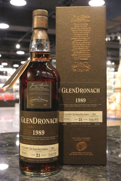 GLENDRONACH 1989 21 years PX Sherry Puncheon 格蘭多納 1989 21年 雪莉桶 單桶 (700ml 54.1%)