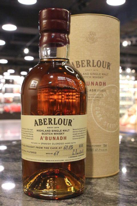 (現貨) Aberlour A'Bunadh Batch No.61 亞伯樂 雪莉桶原酒 第61批次 (700ml 60.8%)