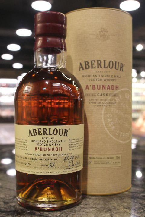 (現貨) Aberlour A'Bunadh Batch No.58 亞伯樂 雪莉桶原酒 第58批次 (700ml 61.1%)