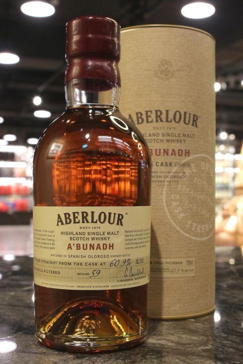 (現貨) Aberlour A'Bunadh Batch No.59 亞伯樂 雪莉桶原酒 第59批次 (700ml 60.9%)