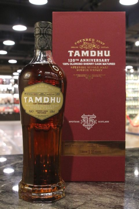 Tamdhu 12 Years 120th Anniversary 坦杜 12年 雪莉桶原酒 120週年紀念版 (700ml 57.6%)
