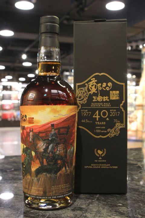 The Whiskyfind - 1977 40 years Blended Malt 威士忌坊 鄭問三國誌 漢中王劉備 故宮限定版 (700ml 44.5%)