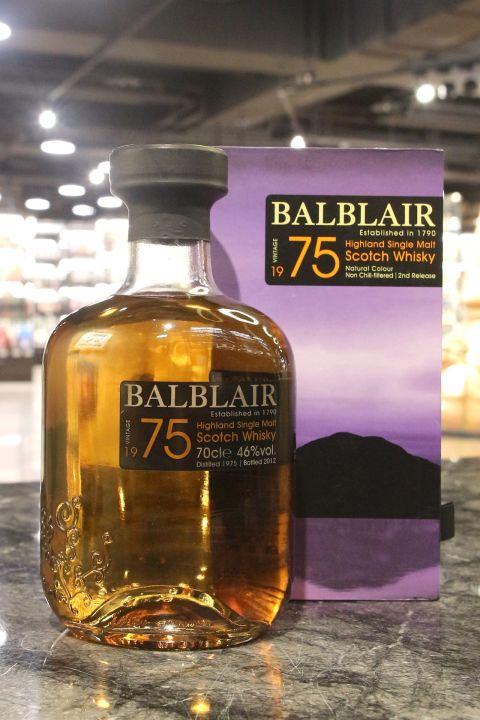 BALBLAIR Vintage 1975 2nd Release 巴布萊爾 1975 (700ml 46%)