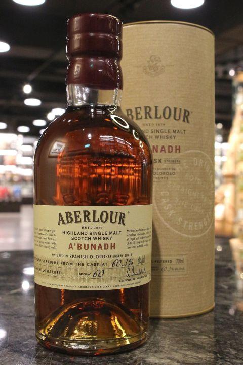 Aberlour A'bunadh Batch No.60 亞伯樂 雪莉桶原酒 第60批次 (700ml 60.3% )