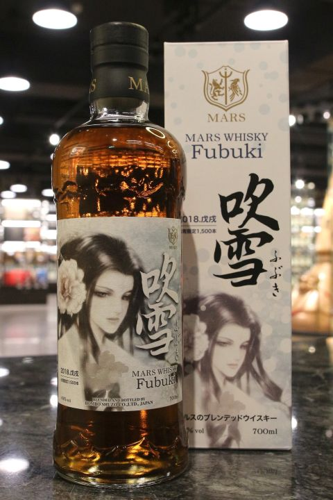 (現貨) Mars 'Fubuki' Blended Whisky Taiwan Limited Edition 吹雪 調和威士忌 2018台灣限定 (700ml 40%)