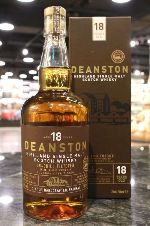 (現貨) Deanston 18 Years Bourbon Cask Finish 汀士頓 18年 波本桶 (700ml 46.3%)