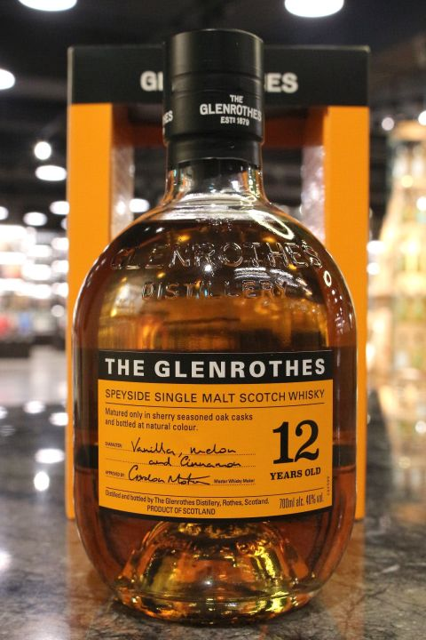 (現貨) Glenrothes 12 Years Single Malt Whisky 格蘭路思 12年 單一麥芽威士忌 (700ml 40%)
