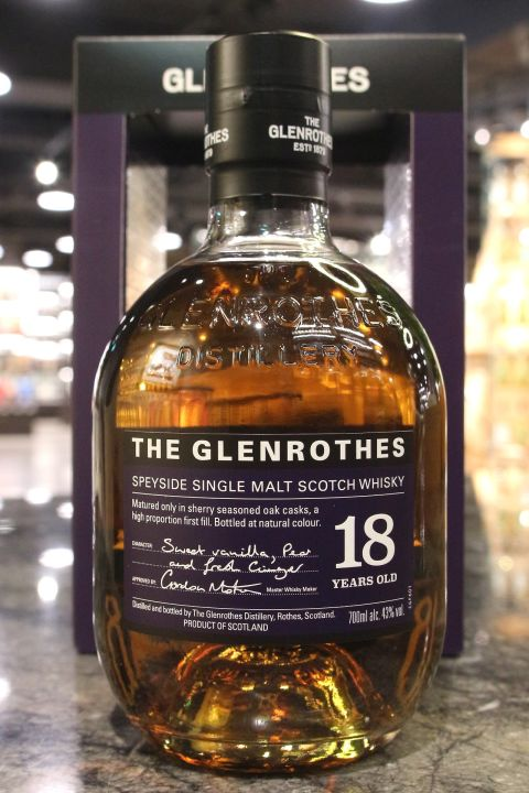 (現貨) Glenrothes 18 Years Single Malt Whisky格蘭路思 18年 單一麥芽威士忌 (700ml 40%)