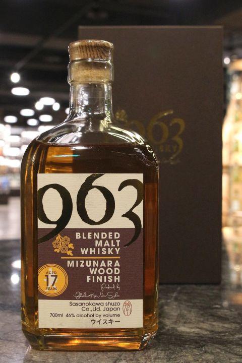 (現貨) Sasanokawa 963 17 Years Blended Malt Mizunara Wood 笹之川酒造 17年 水楢風味桶 調和麥芽威士忌 (700ml 46%)
