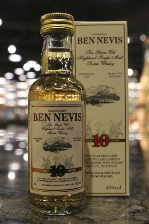 (現貨) Ben Nevis 10 Years Miniature 班尼富 10年 小樣酒 (50ml 46%)