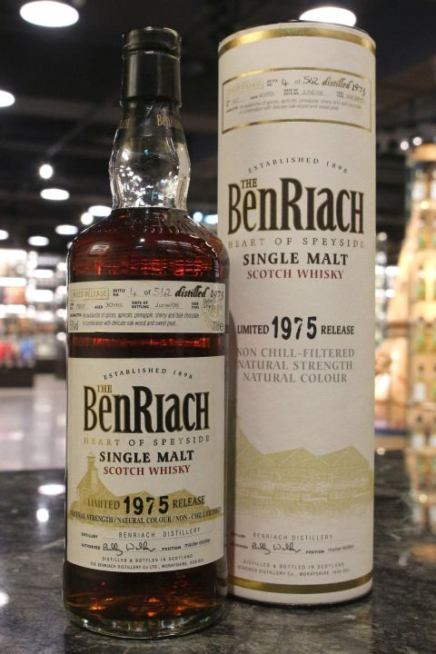 (現貨) BenRiach 1975 30 Years Sherry Butt Limited Release 班瑞克 1975 30年 雪莉單桶 限量版 (700ml 55%)