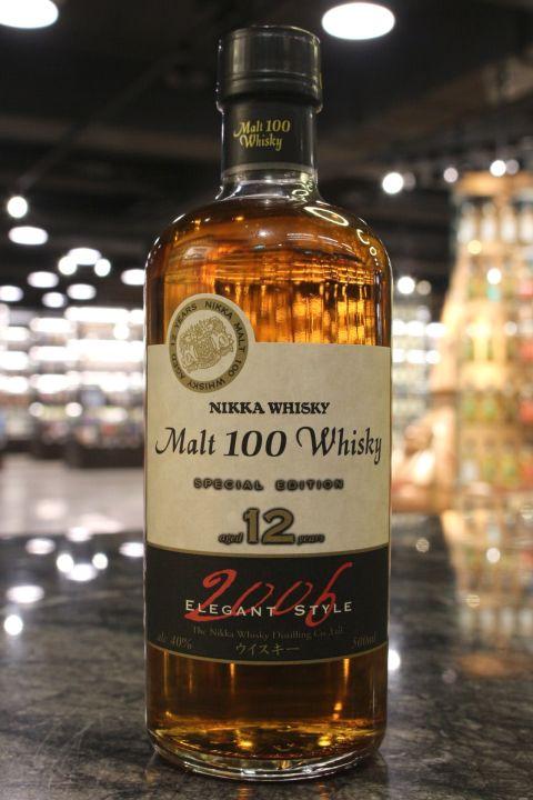 (現貨) Nikka Malt 100 Whisky 12 Years 2006 特別版 12年 2006裝瓶 (500ml 40%)
