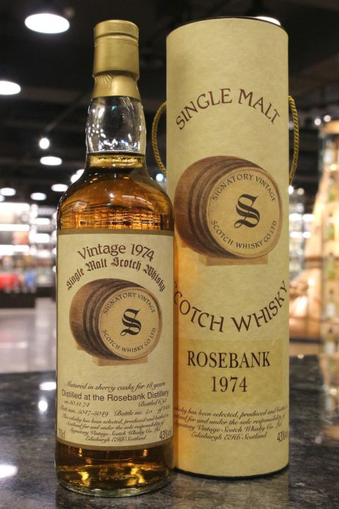 Signatory Vintage Rose Bank 1974 18 Years 聖弗力 玫瑰河畔 1974 18年 (700ml 43%)