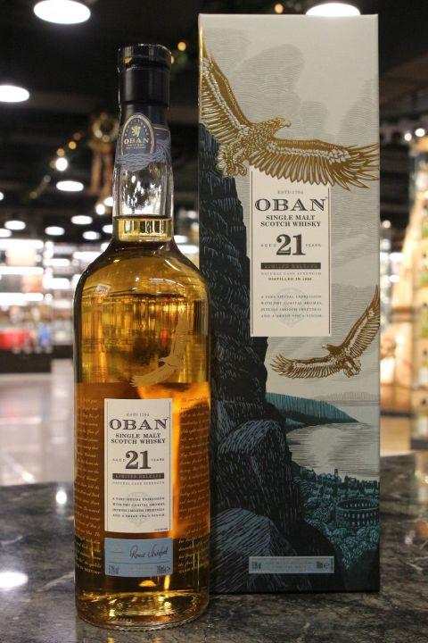 (現貨) Oban 21 years 1996 Diageo Special Release 2018 歐本 21年 限量原酒 2018版(700ml 57.9%)