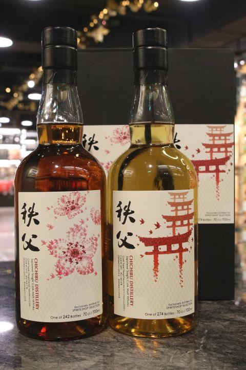 (現貨) Chichibu 2011/2012 Single Cask 秩父 單桶原酒 千羽鶴系列 櫻花/鳥居 (700ml*2 / 60.6%+63.7%)