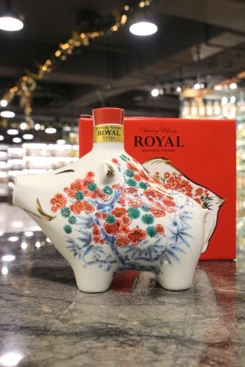 (現貨) Suntory Royal Zodiac Bottle Year of the Pig 2019 三得利 2019 豬年紀念瓷瓶 (600ml 43%)