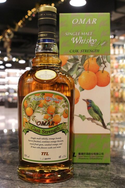 TTL OMAR 2018 Orange Brandy Barrel Finished 台酒威士忌 2018 柳丁風味桶 限量原酒 (700ml 55%)