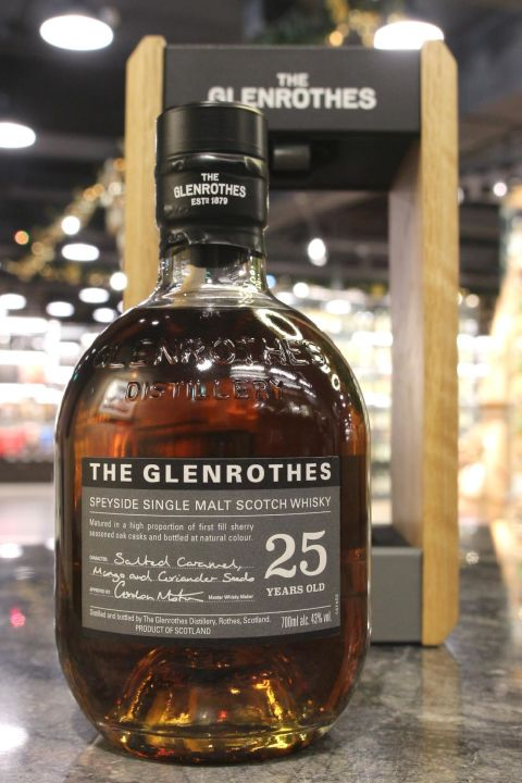 (現貨) Glenrothes 25 Years Single Malt Whisky 格蘭路思 25年 單一麥芽威士忌 (700ml 43%)