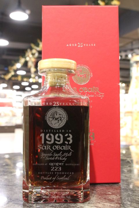 (現貨) Kingsbury Sar Obair – Glenlivet 1993 25 years 格蘭利威 1993 25年 水晶瓶 (700ml 54.3%)