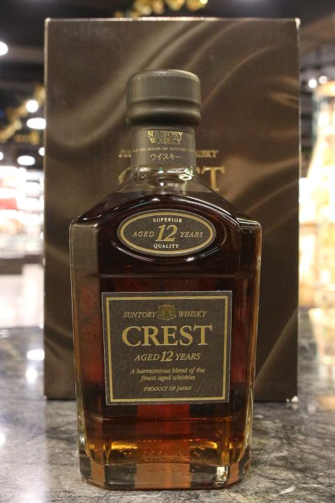 (現貨) Suntory Crest 12 Years Blended Whisky 三得利 Crest 12年 調和威士忌 (750ml 43%)