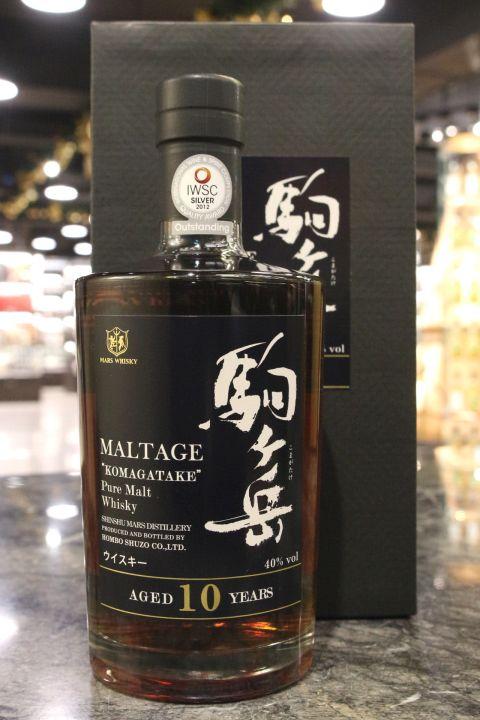 (現貨) Mars KOMAGATAKE 10 Years Pure Malt Whisky 駒之岳 10年 (700ml 40%)