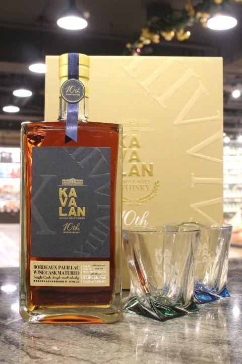 (現貨) Kavalan Bordeaux Wine Cask 10th Anniversary Gift Set 噶瑪蘭 波爾多波雅克產區葡萄酒桶禮盒 (1000ml 57.8%)