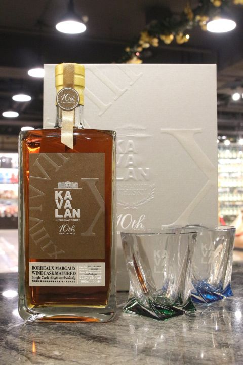 (現貨) Kavalan Bordeaux Wine Cask 10th Anniversary Gift Set 噶瑪蘭 波爾多瑪歌產區葡萄酒桶禮盒 (1000ml 57.8%)