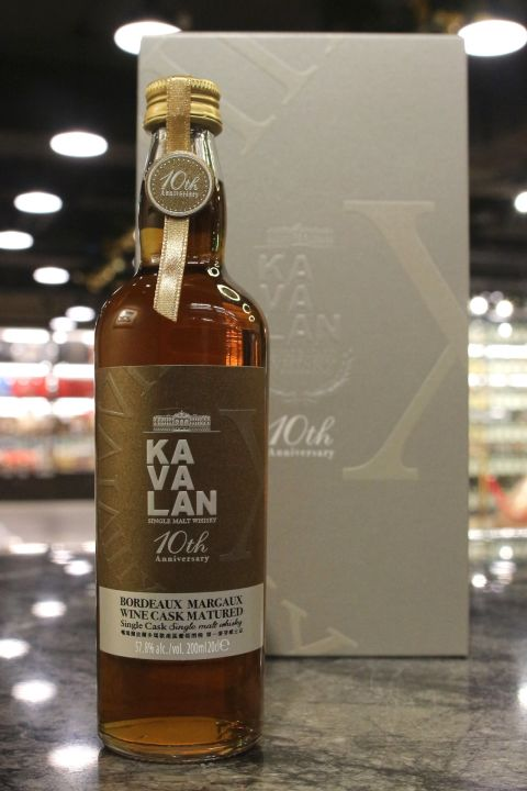 (現貨) Kavalan Bordeaux Wine Cask 10th Anniversary 噶瑪蘭 波爾多瑪歌產區葡萄酒桶 (200ml 57.8%)